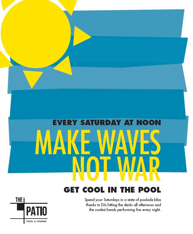 make waves not war pool party at Unscripted Durham